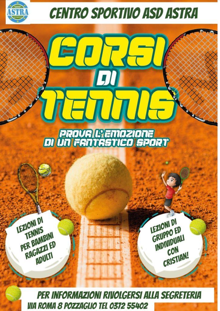 corsi tennis da ottobre 2019 pozzaglio cremona